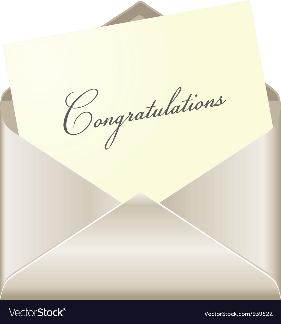Congratulations card vector image