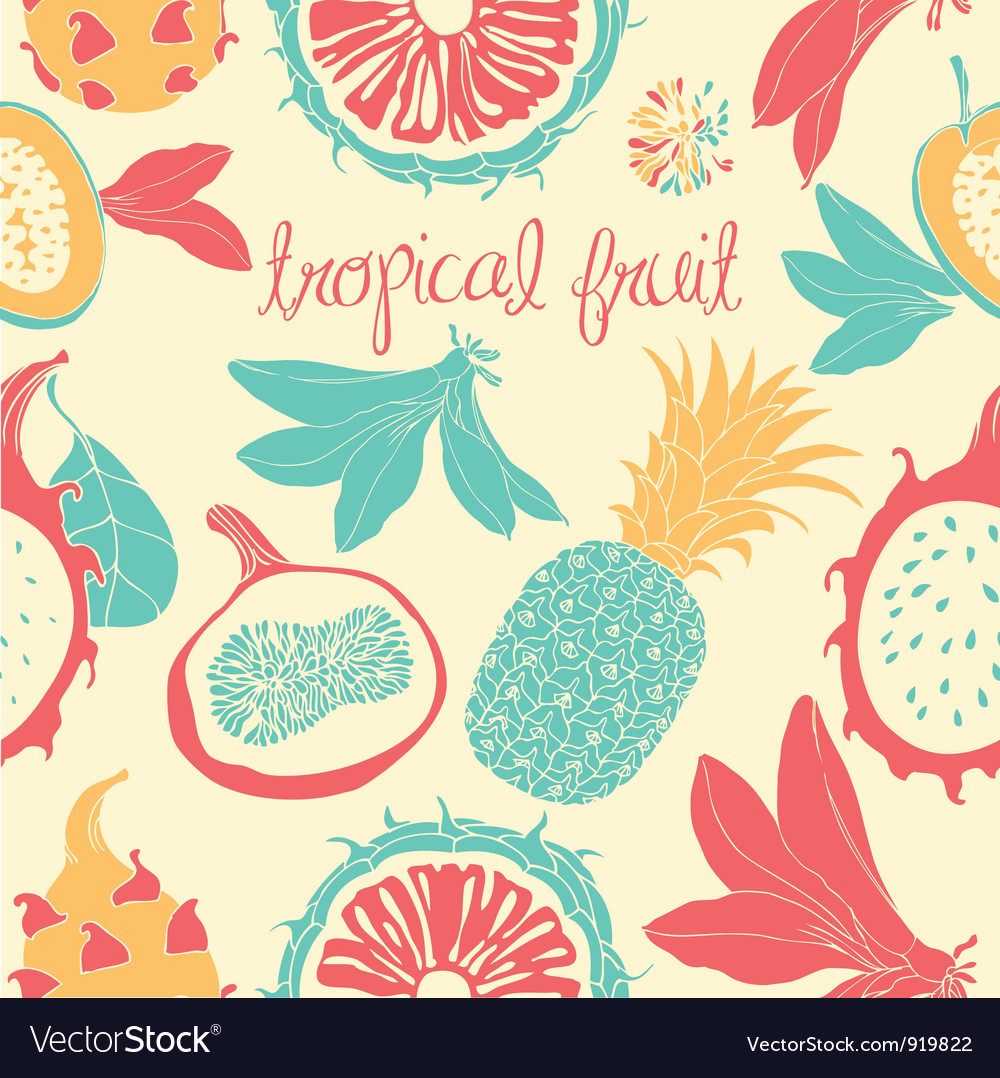 Tropical Fruit Pattern vector image