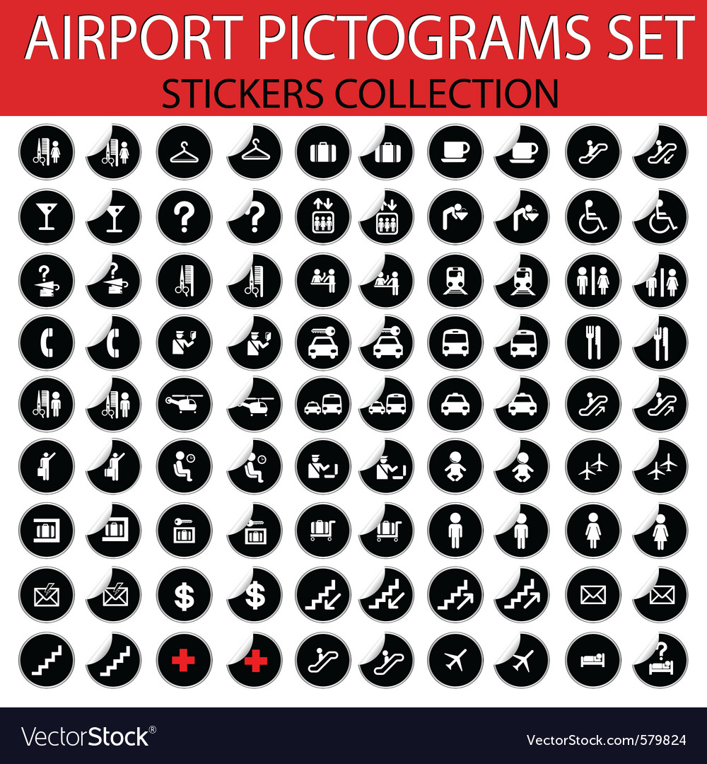Airport pictogram Vector Image