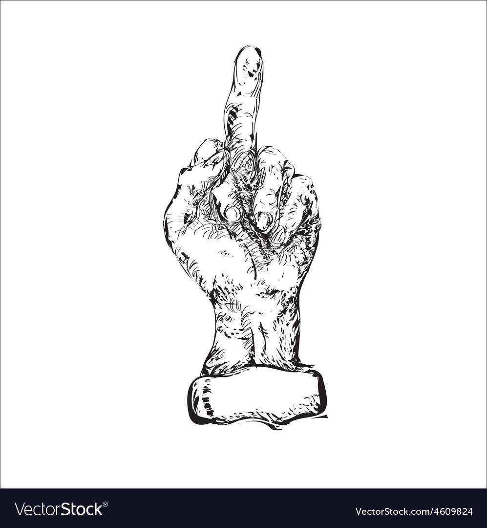 Obscene Sign vector image