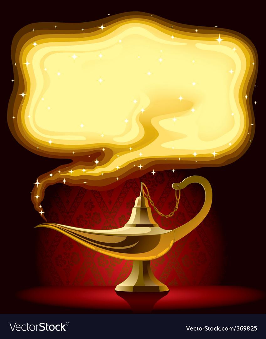 Marvelous Aladdinu0027s Lamp Vector Image
