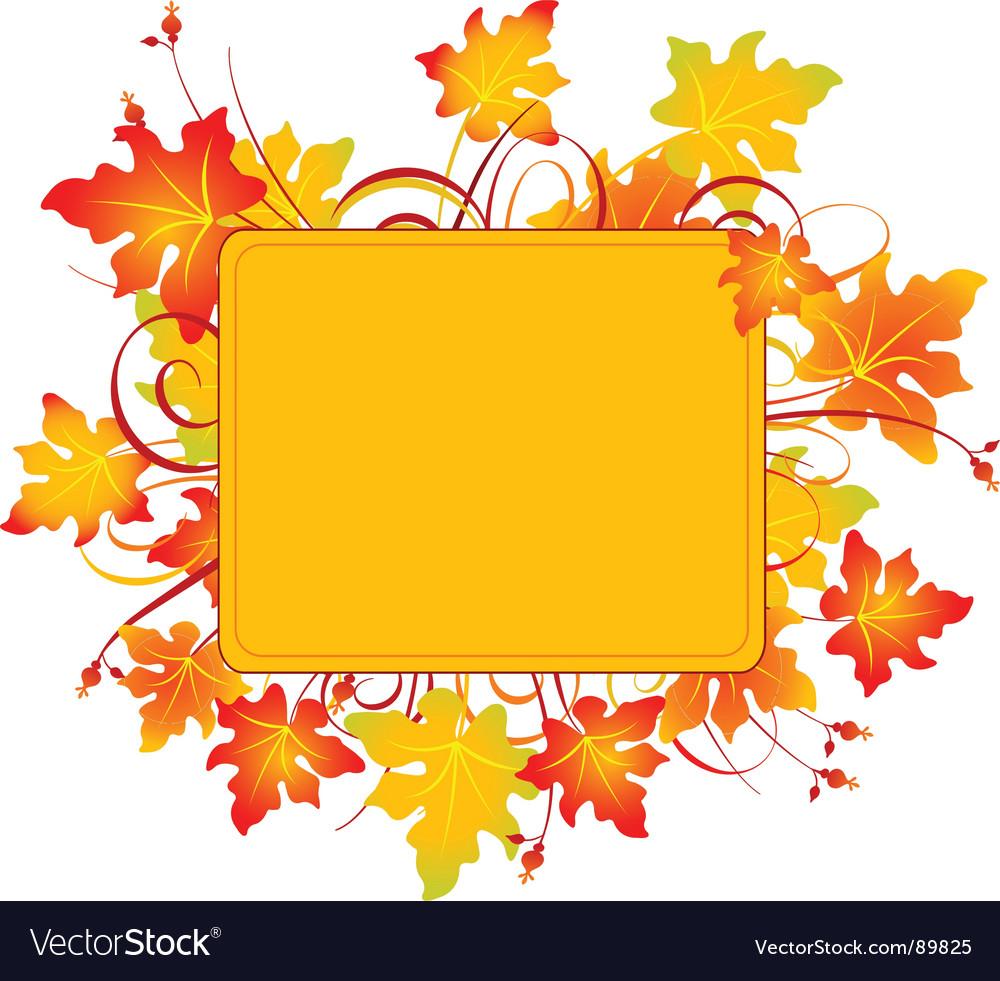 Fall frame vector image