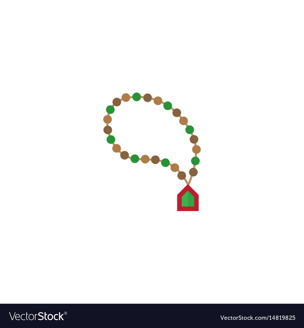Flat rosary islam element of vector image