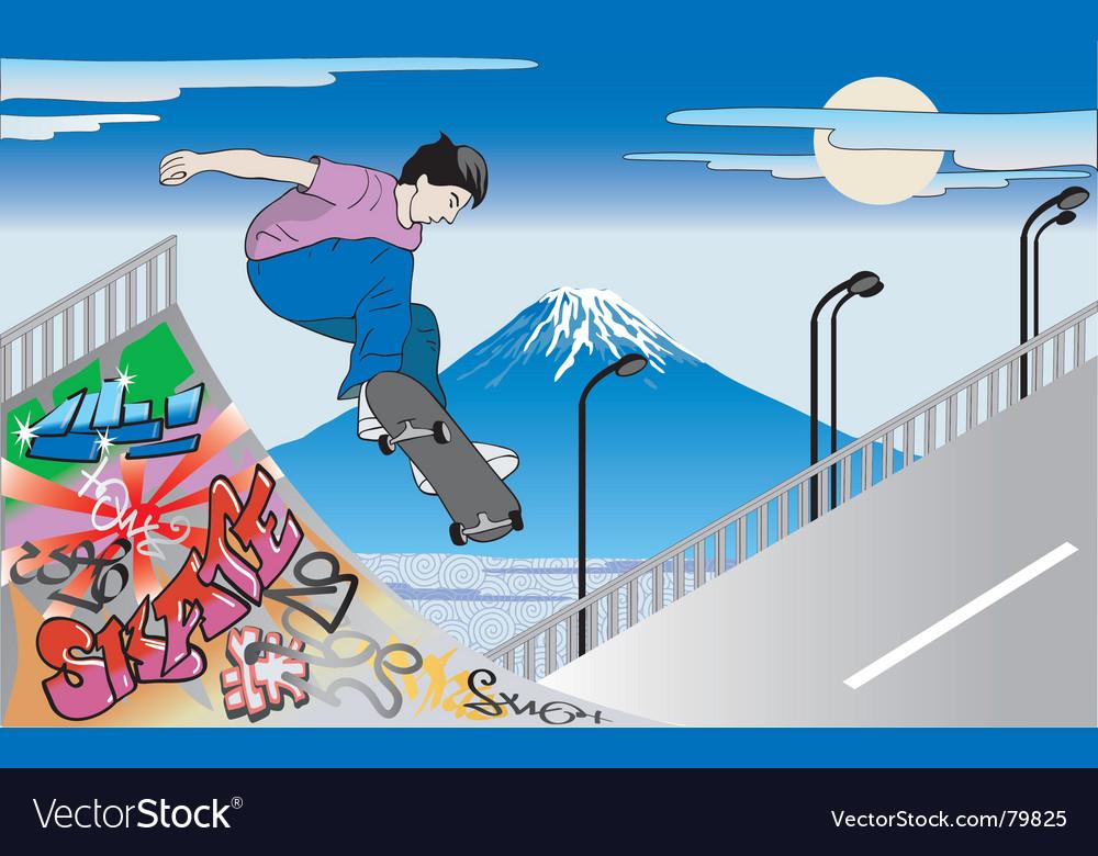 Skater guy vector image