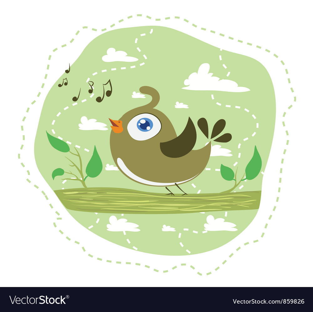 Singing bird vector image