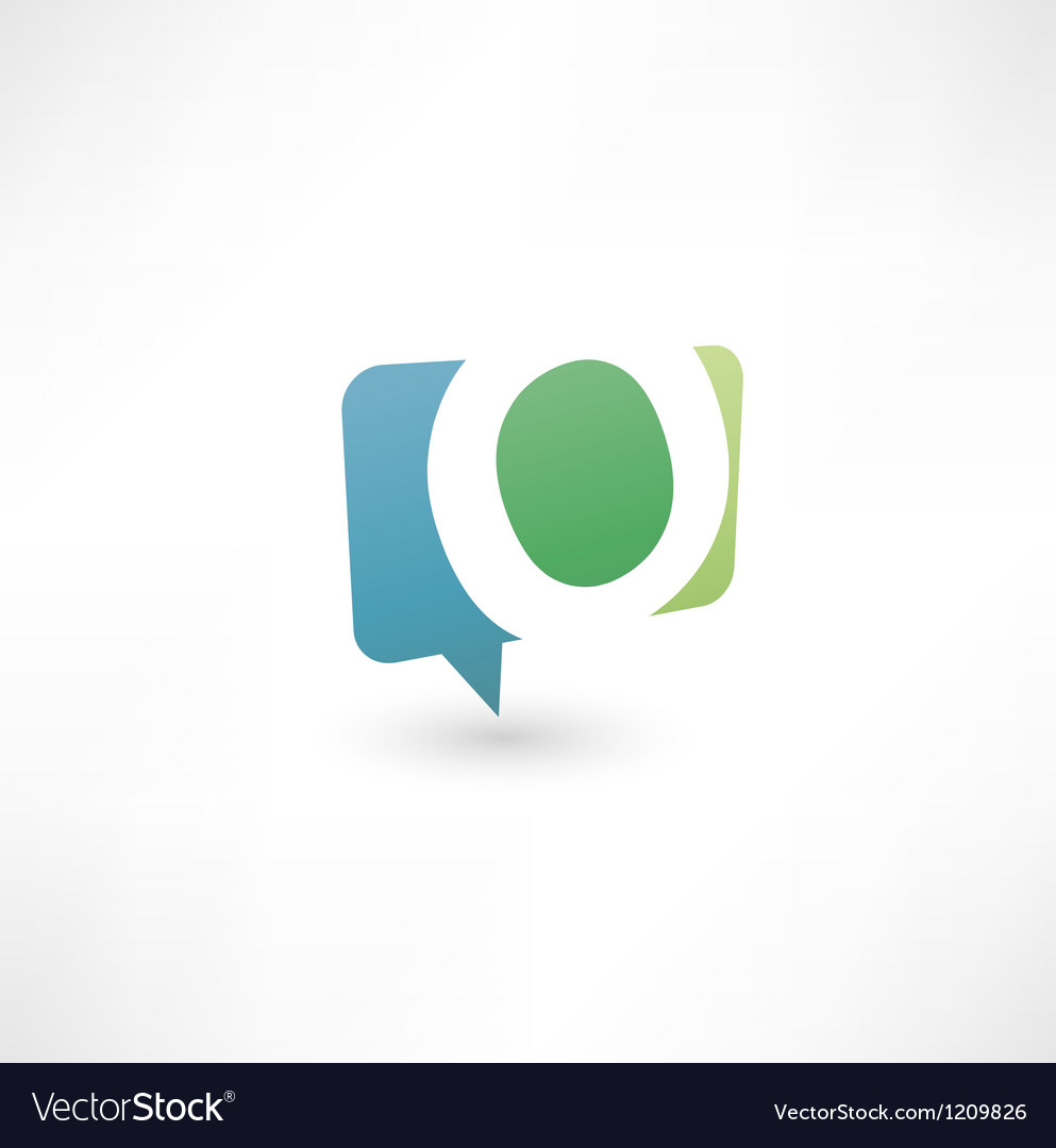 Abstract bubble icon based on the letter O vector image