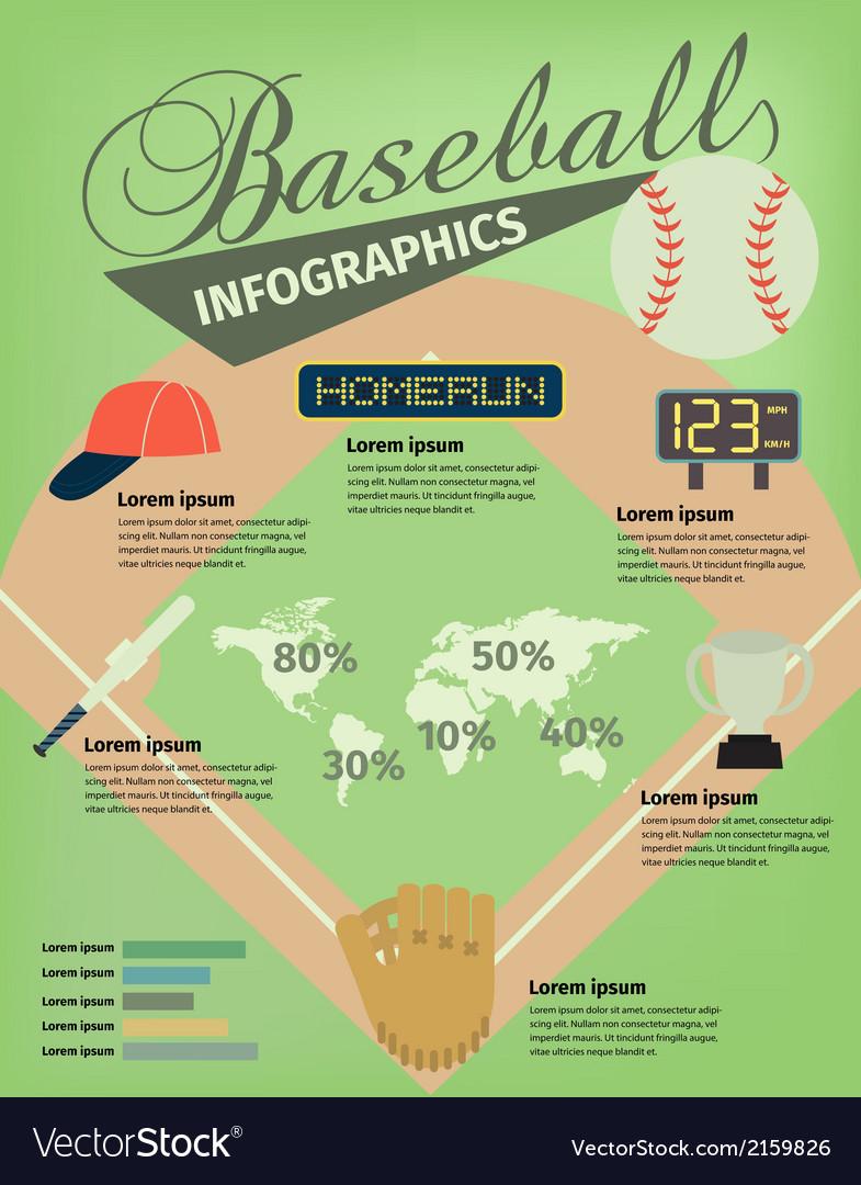 Baseball infographic vector image