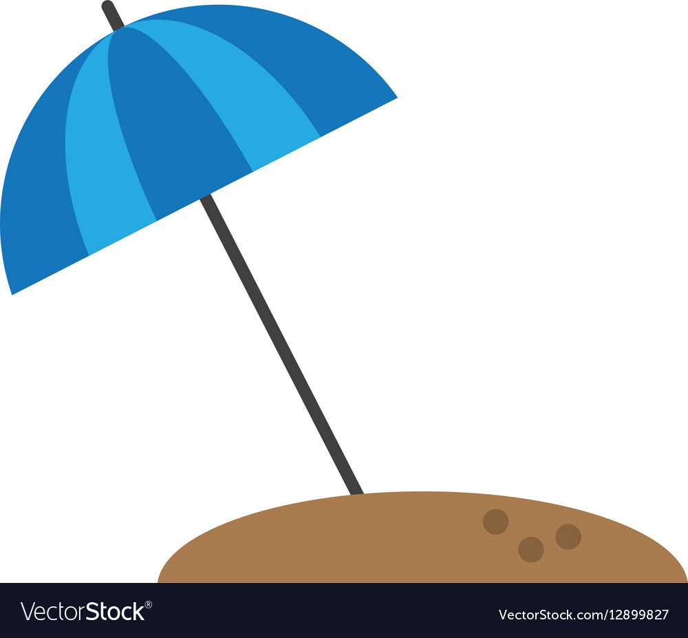 Beach umbrella parasol sun vacation vector image