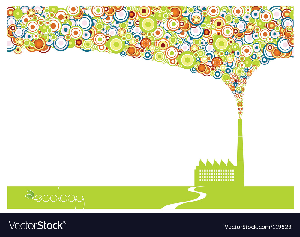 Factory smoke vector image