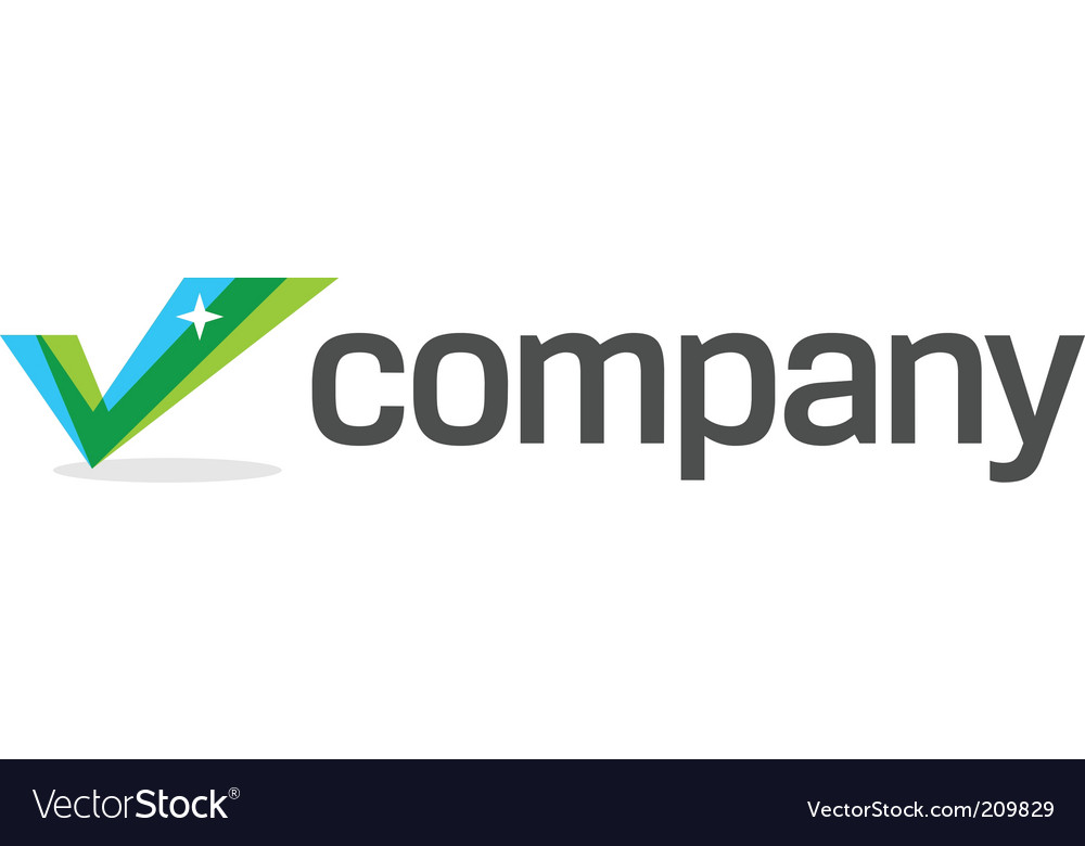 Business check mark logo vector image