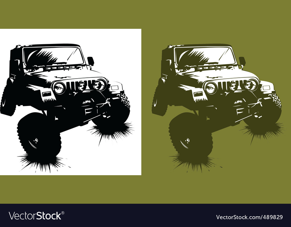 Car monster vector image