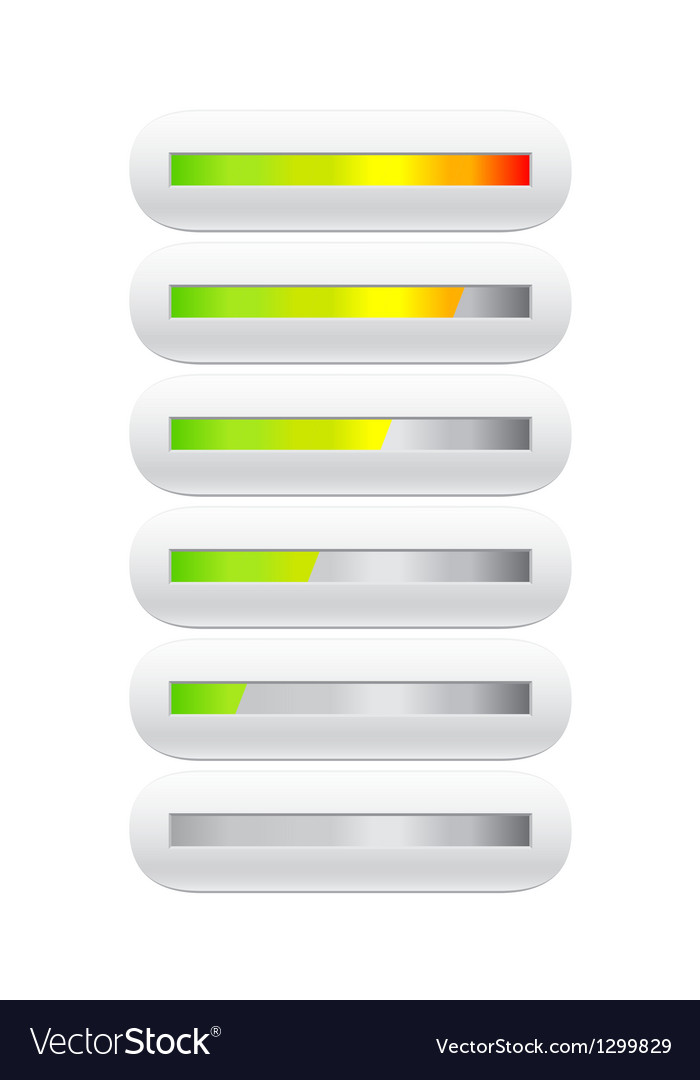 Loading bar from green to red vector image