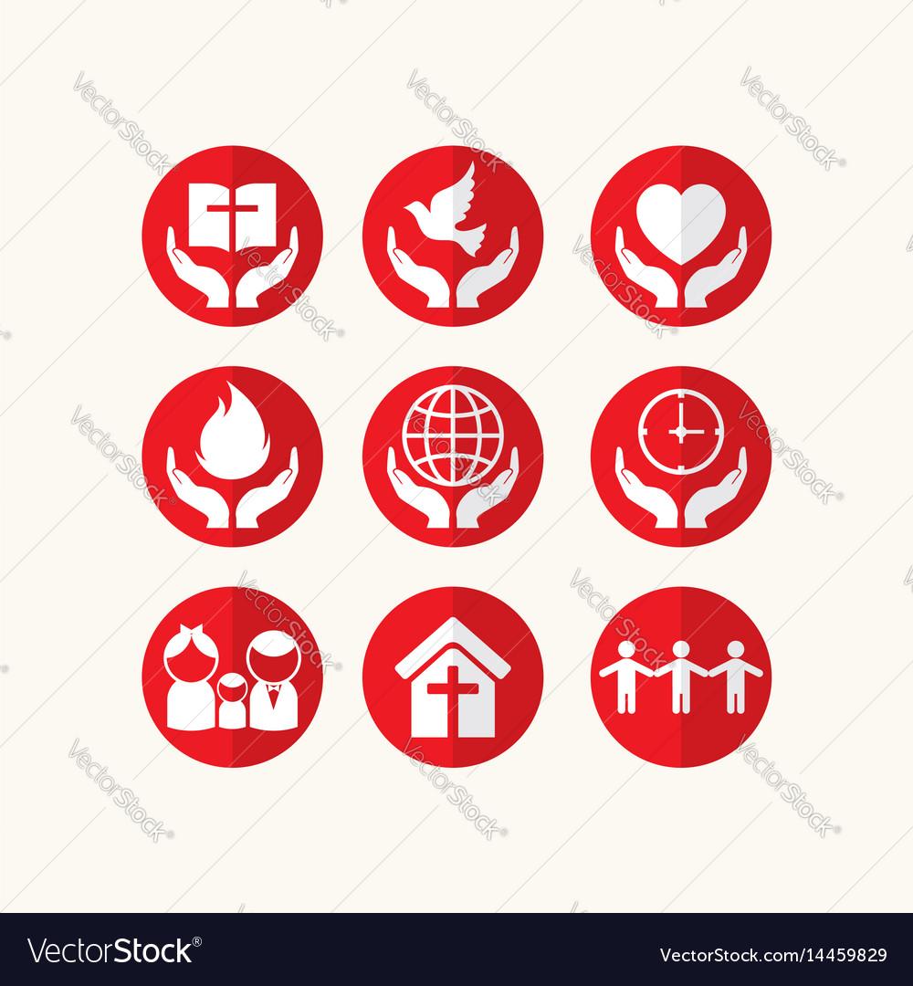 Set of christian logos and biblical symbols vector image set of christian logos and biblical symbols vector image biocorpaavc