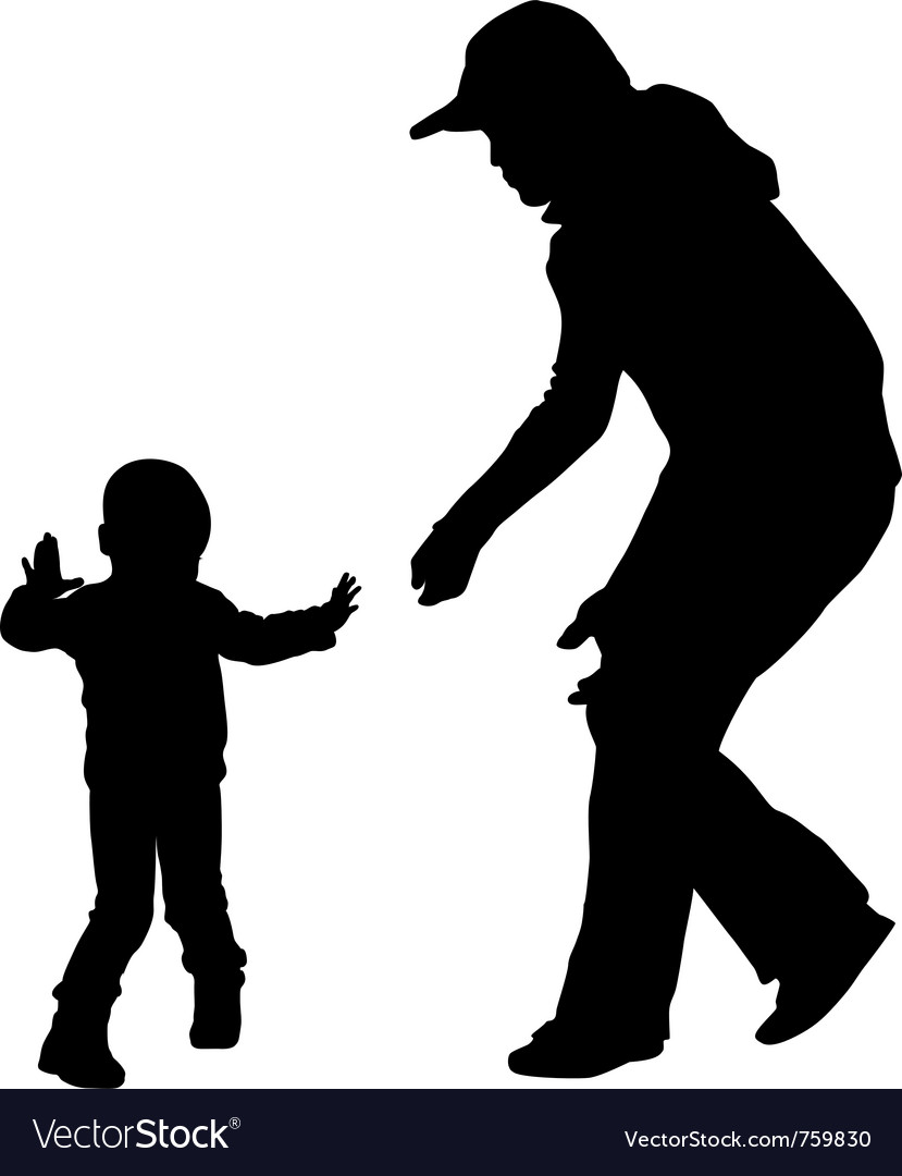 First steps vector image