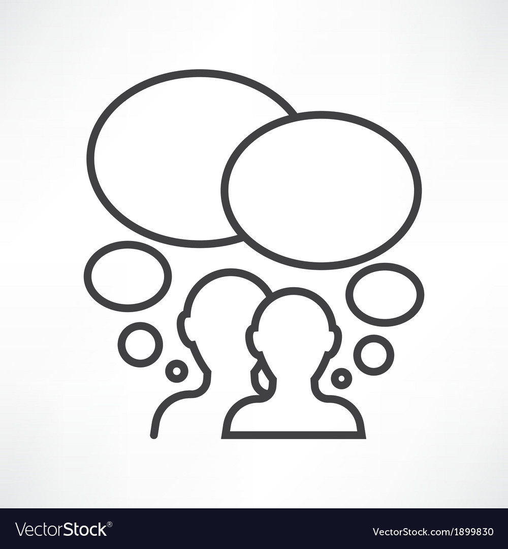 Two persons communication vector image