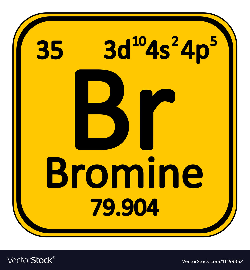 Periodic table element bromine icon royalty free vector periodic table element bromine icon vector image buycottarizona Choice Image