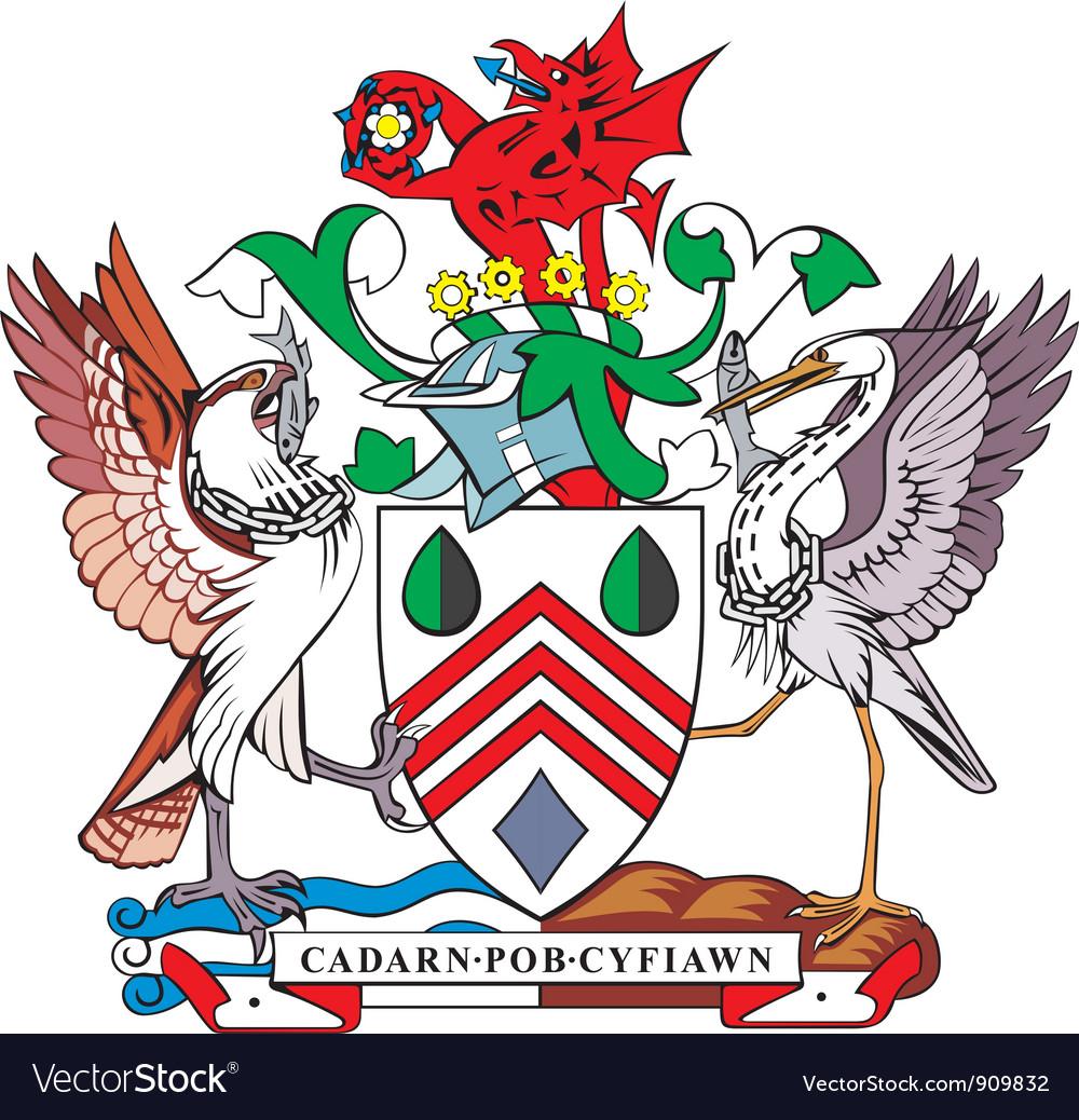 Westglamorgan county coa vector image