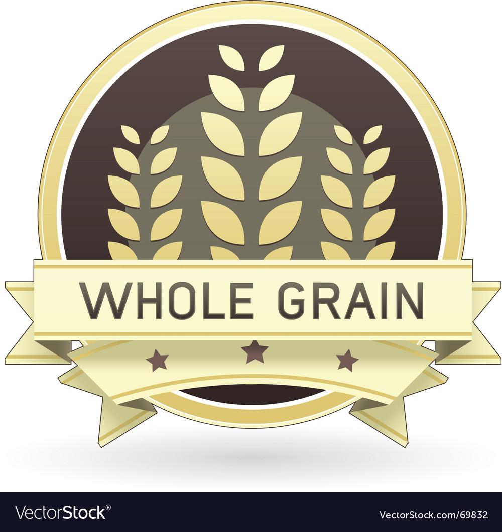 Whole grain food label vector image
