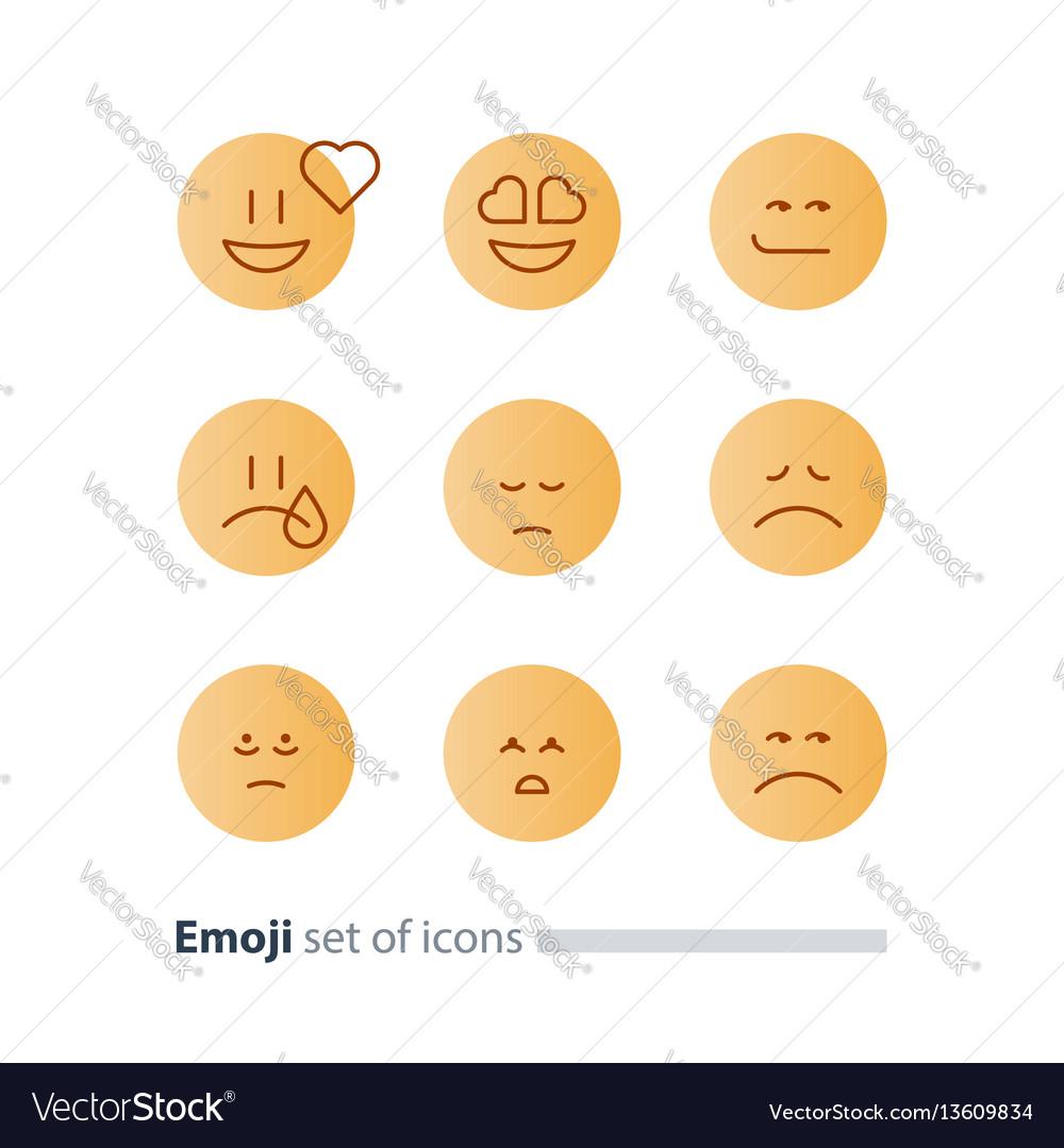 Emoji icons emoticon symbols face expression signs emoji icons emoticon symbols face expression signs vector image biocorpaavc Image collections