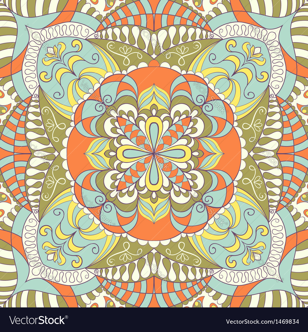 Ornamental lace pattern vector image