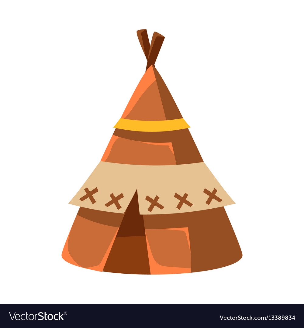 Wigwam leather living hut native american indian vector image