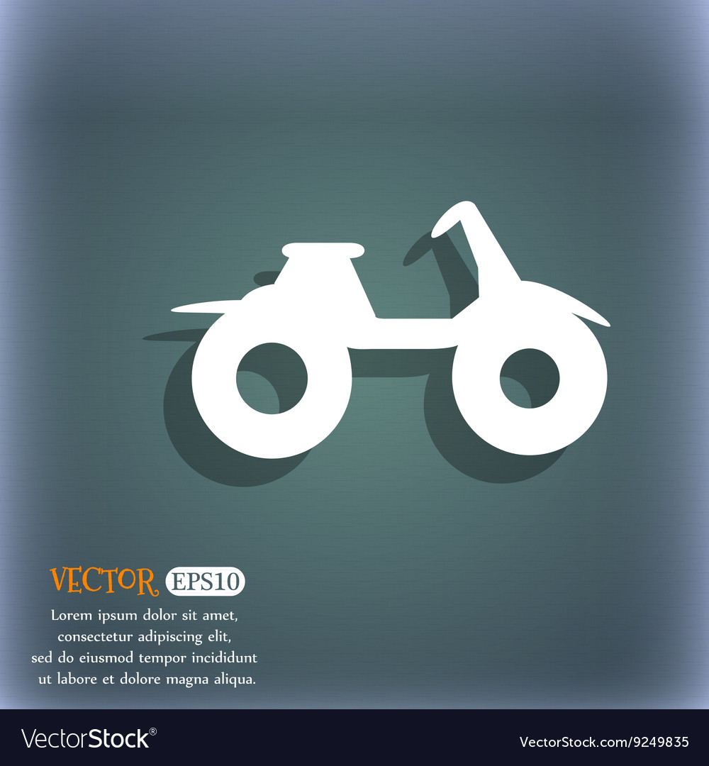 ATV icon On the blue-green abstract background vector image