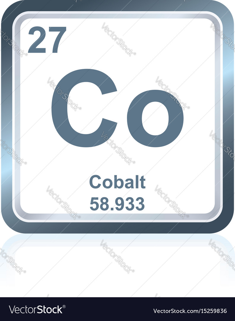 Chemical element cobalt from the periodic table vector image