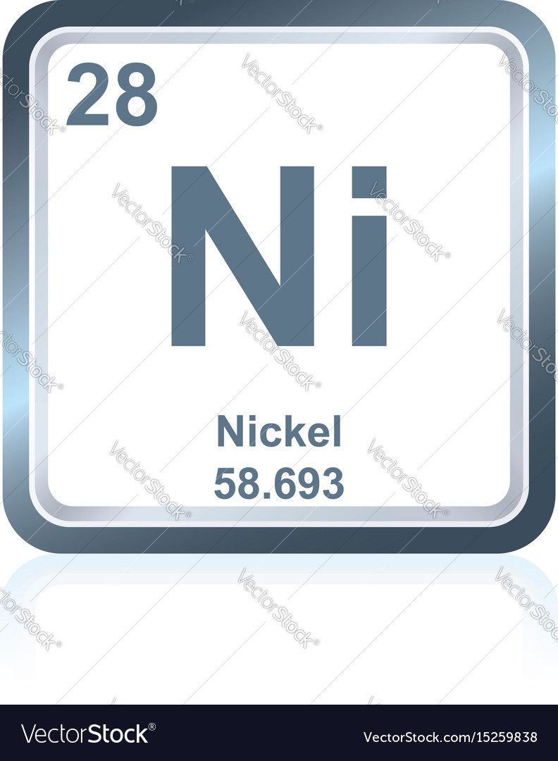 Chemical element nickel from the periodic table vector image urtaz Choice Image