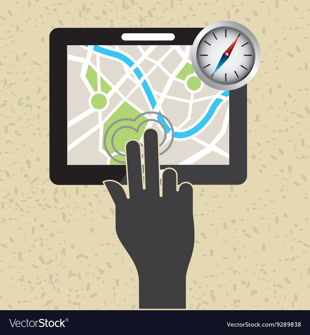 global positioning system design royalty free vector image