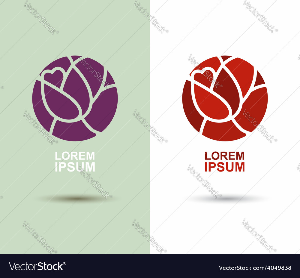 Logo Flower abstract icon design template Flourish vector image