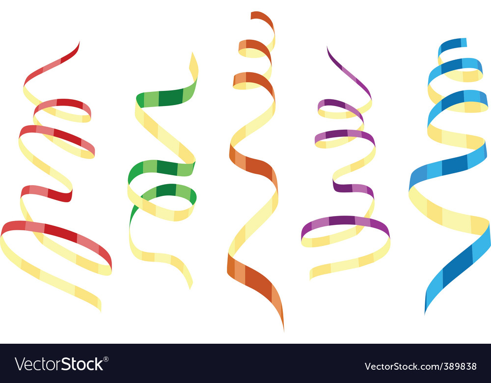 Streamers vector image