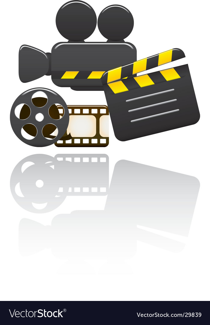Video set vector image