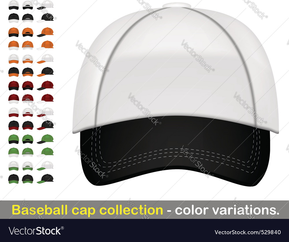 Baseball cap mega collection Vector Image