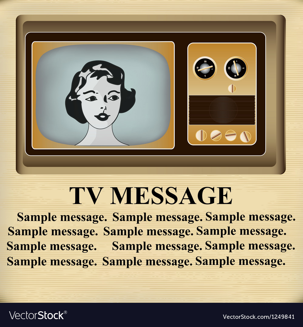 Retro TV Message vector image