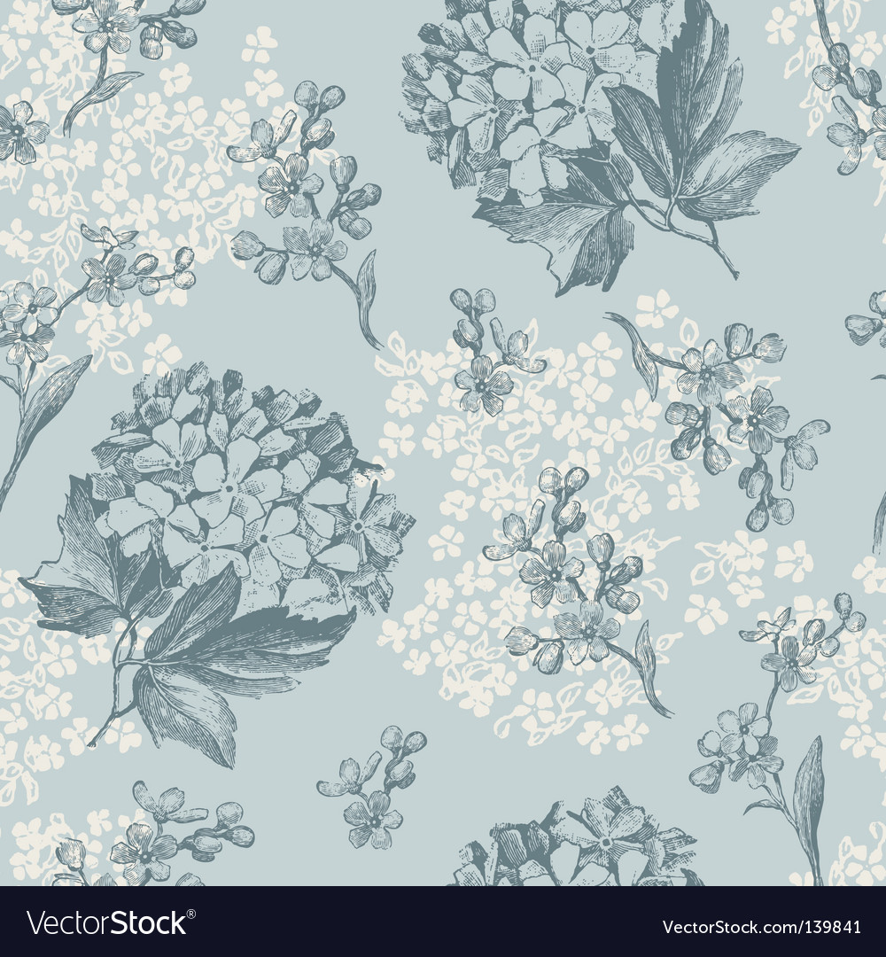 Floral wallaper pattern vector image