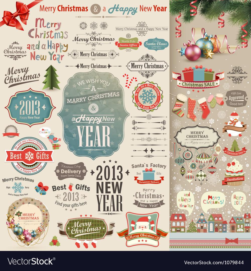 Christmas vintage Scrapbook vector image