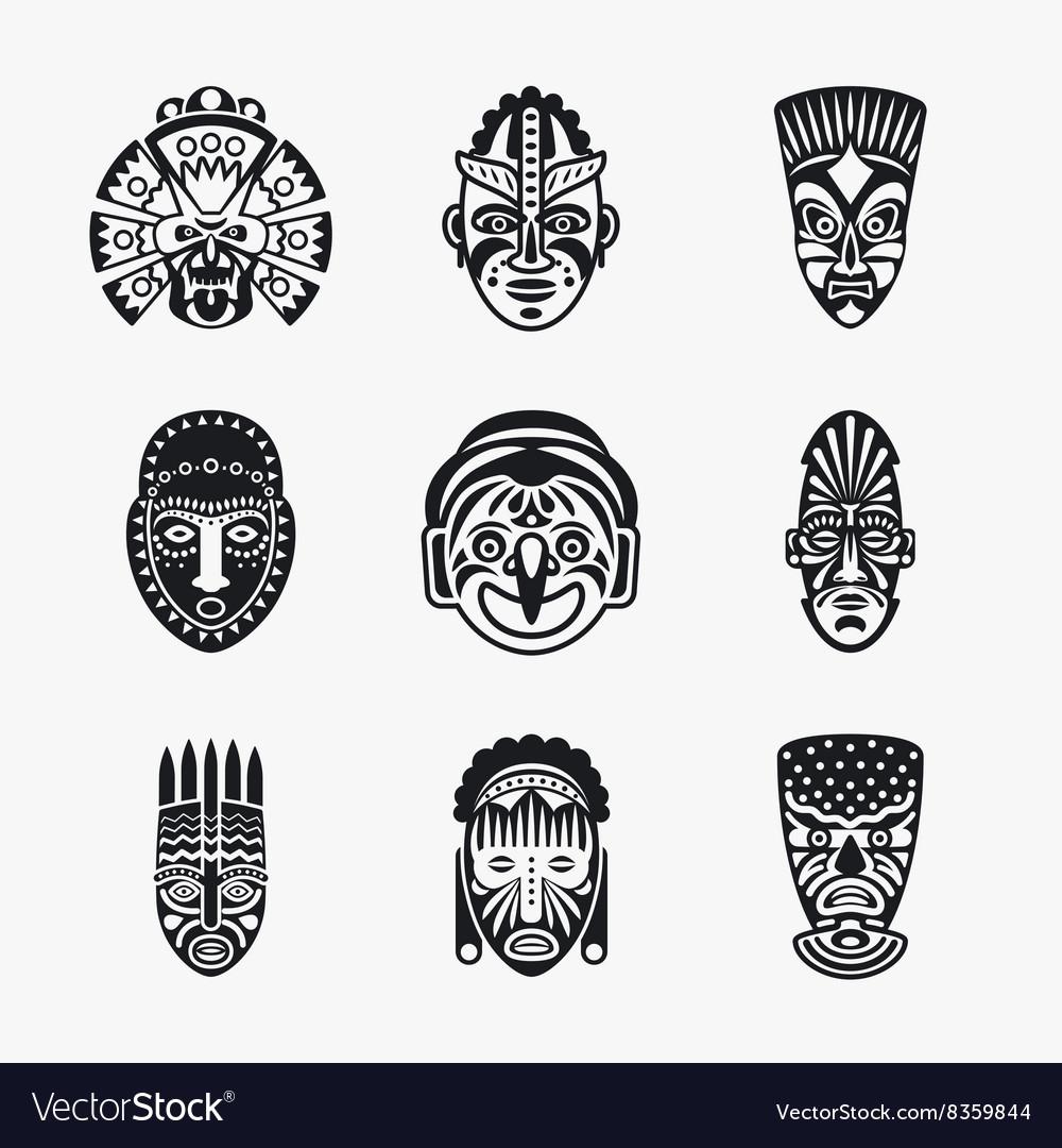 tiki u0026 mask vector images over 170