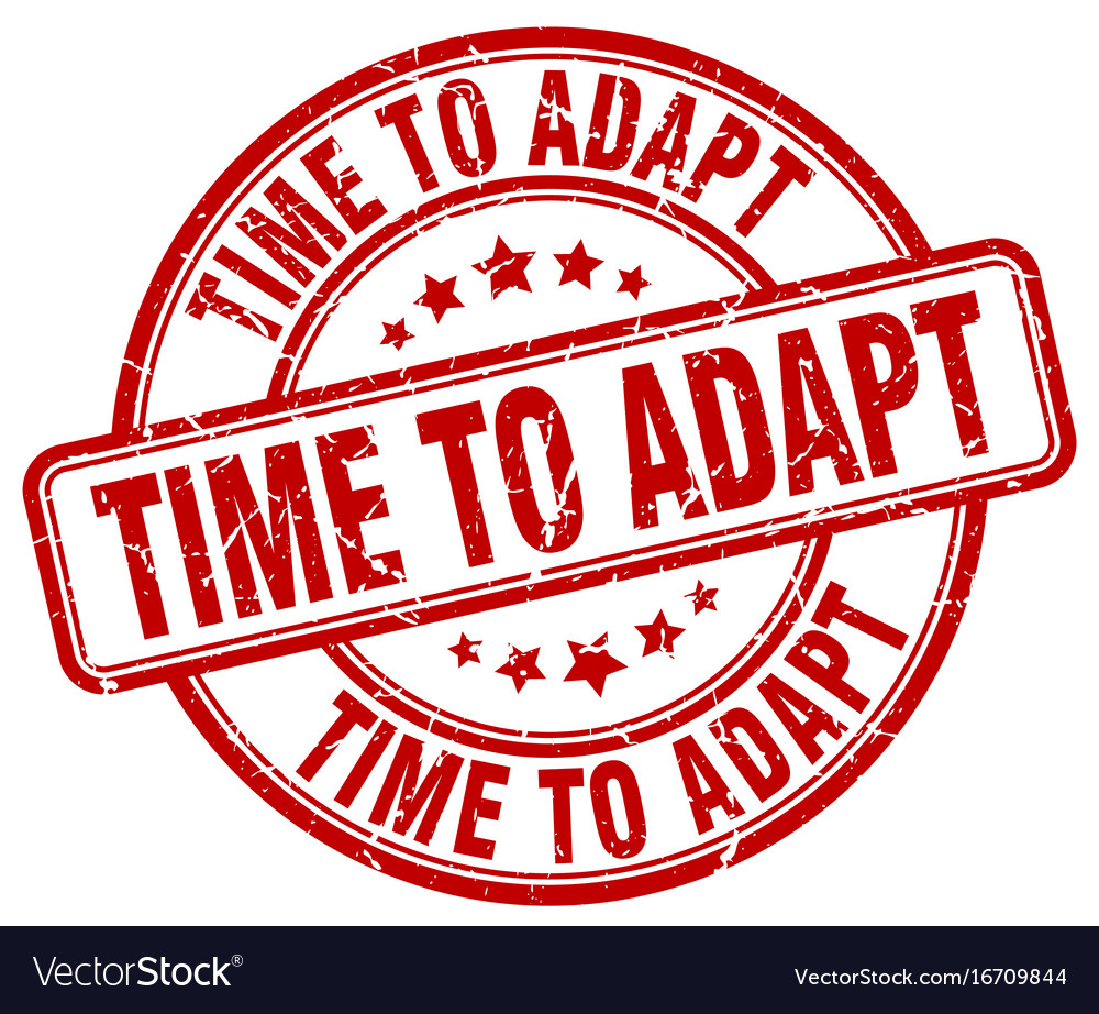 Time to adapt stamp vector image