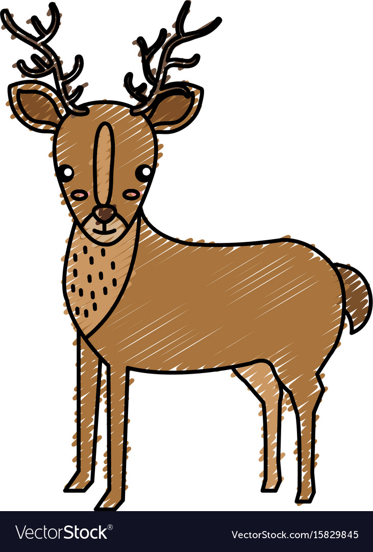 Cute and tender reindeer vector image