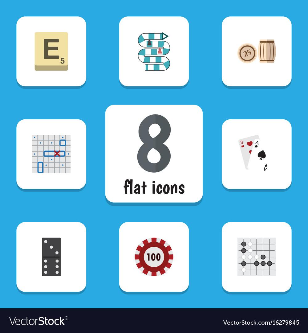 Flat icon entertainment set of mahjong poker vector image