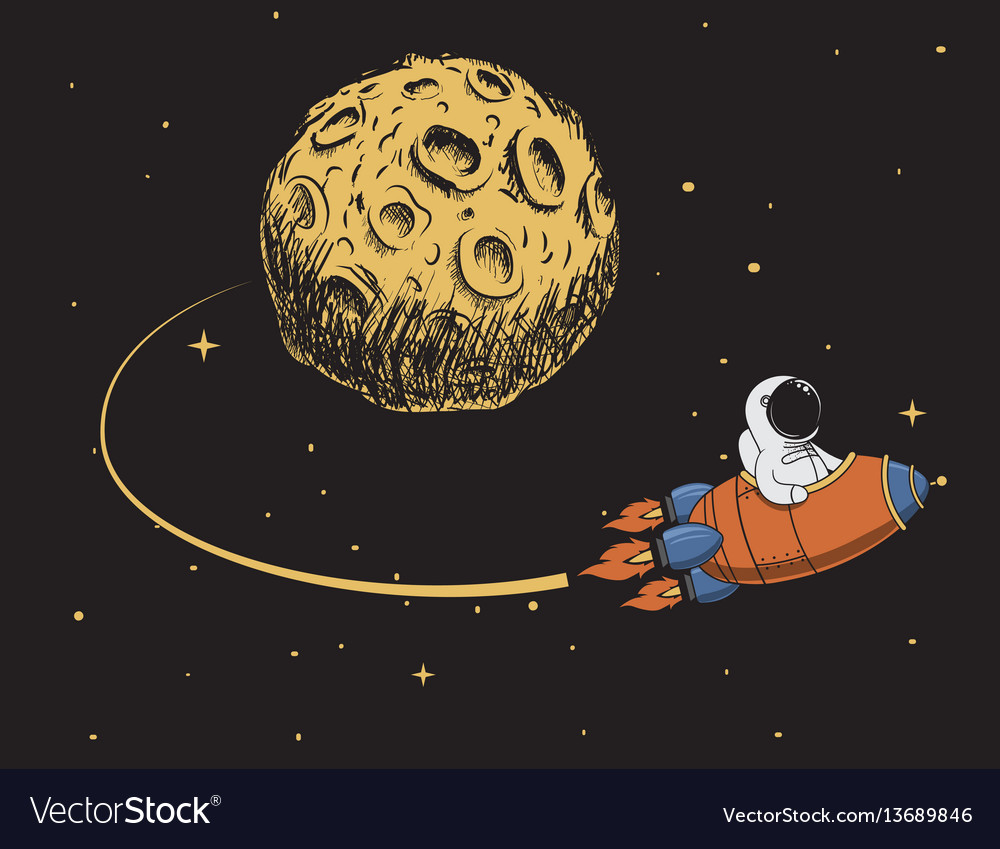 Astronaut come back after mission to moon vector image