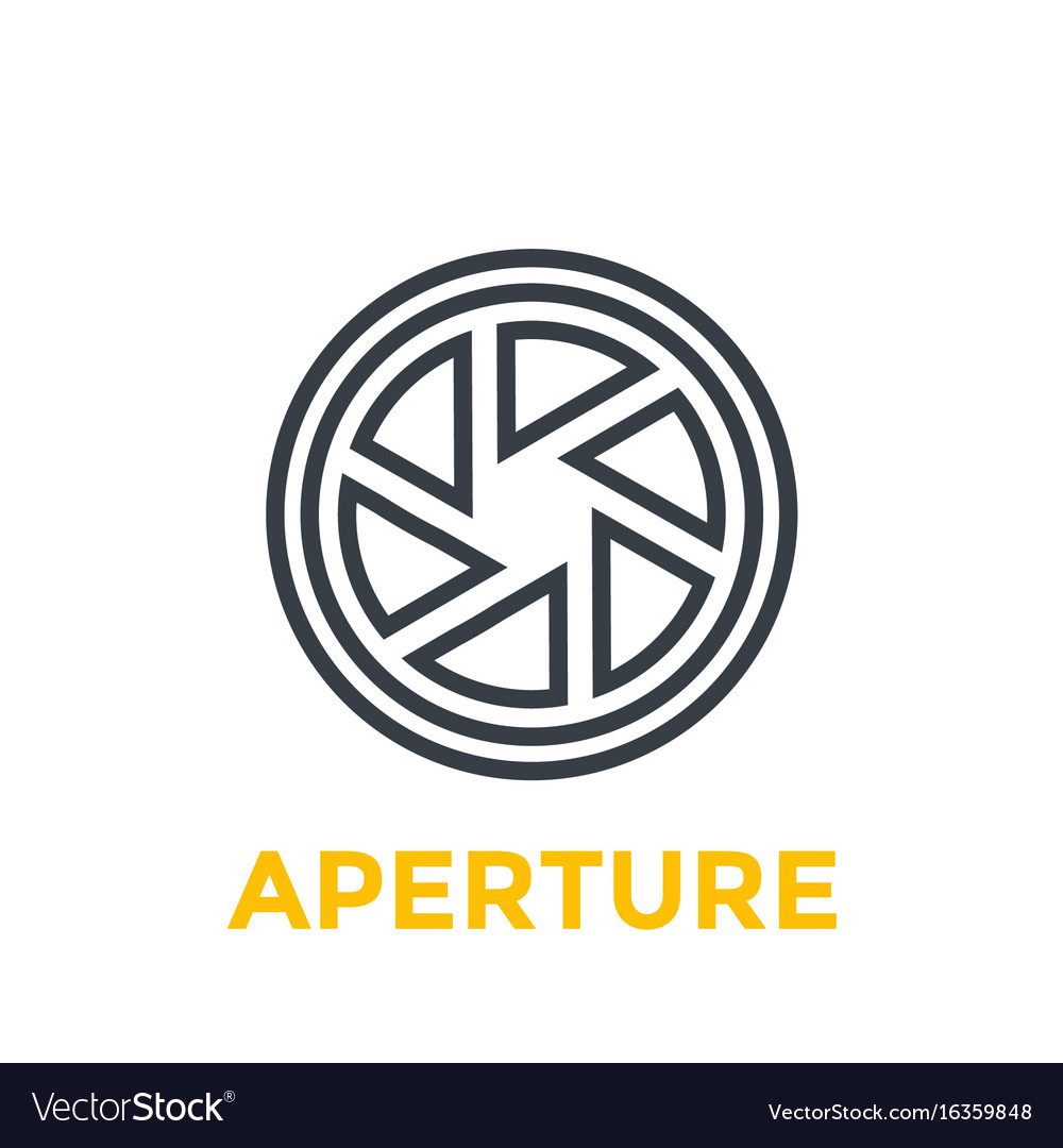 Aperture line icon vector image