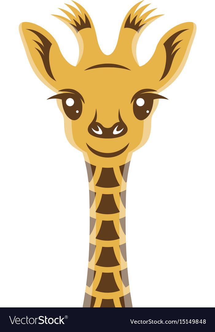 Giraffee baby cartoon style portrait nursery vector image