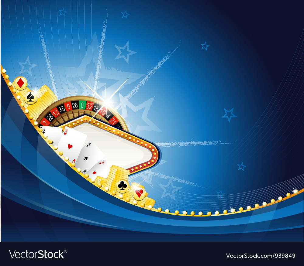Abstract casino background with roulette and vector image