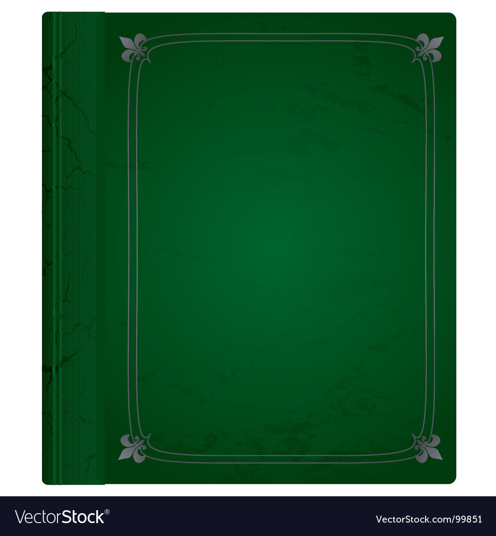 Leather book  vector image