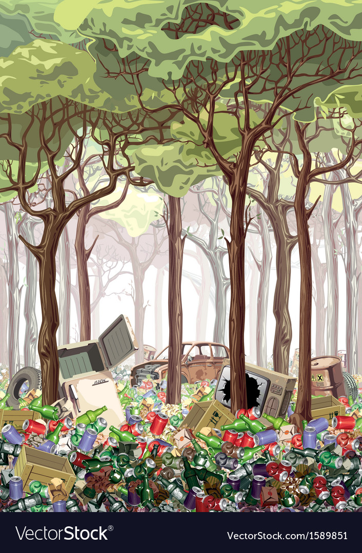 Junk Forest vector image