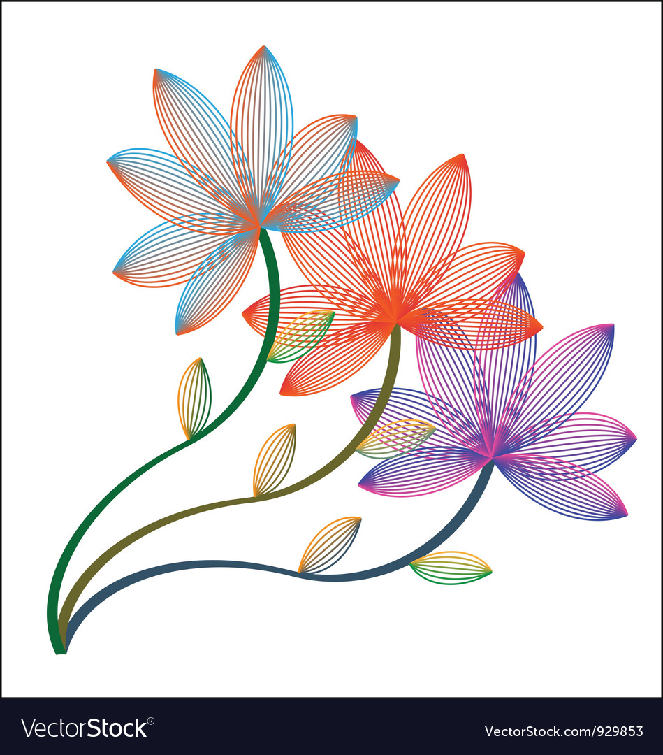 Asian Bloom Lily Pattern vector image