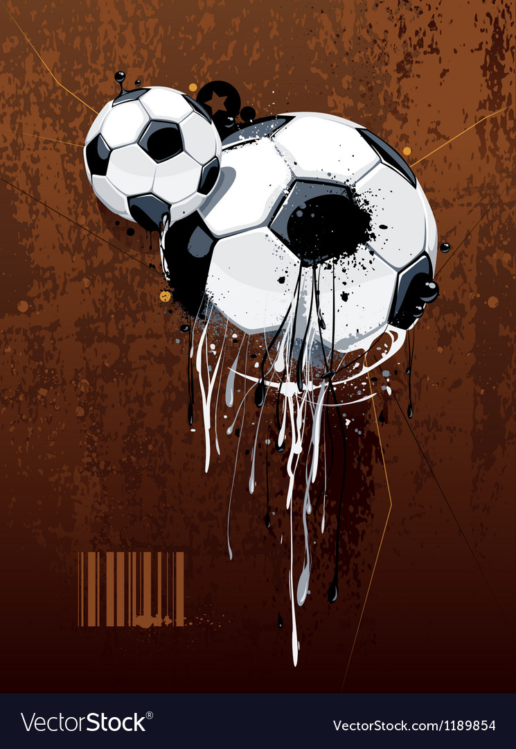 Liquid graffiti football vector image