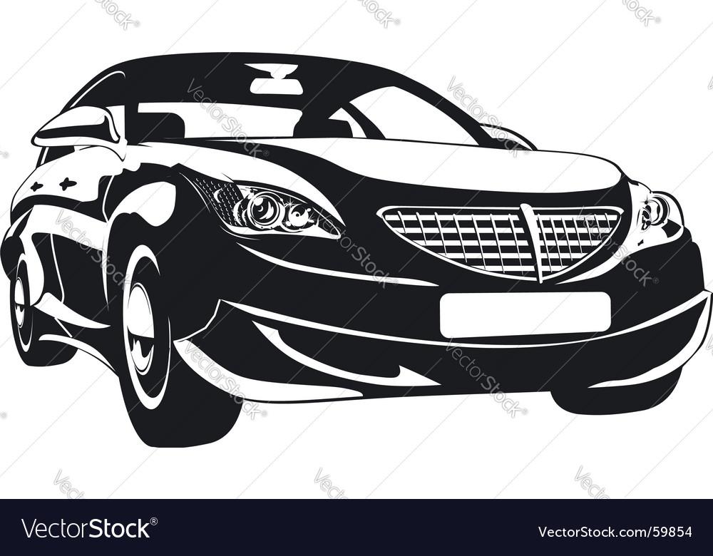 Abstract car vector image