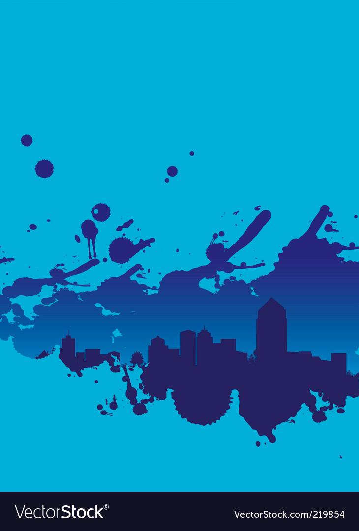 Cityscape splodge vector image